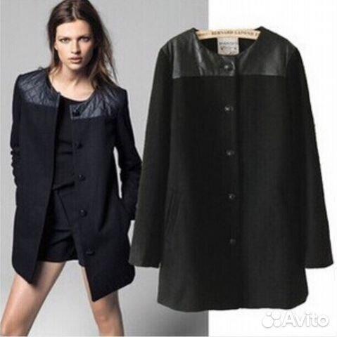Шикарное женское однобортное пальто. ff7120213e9dc