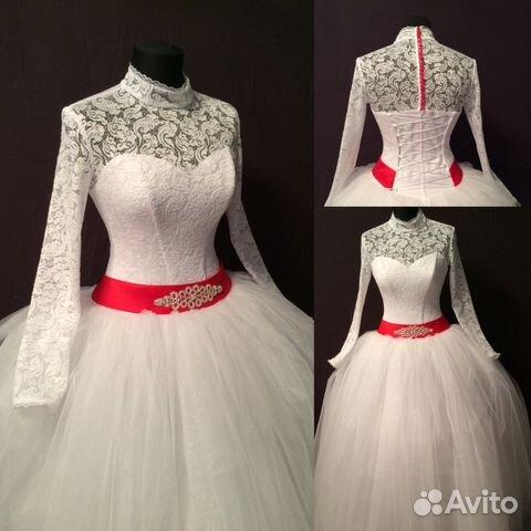 Свадебные платья с воротником с