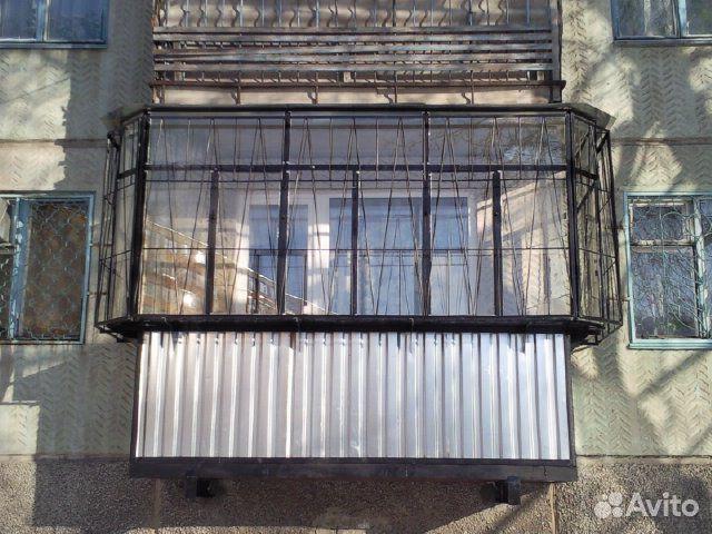 Балкон с выносом. фото.