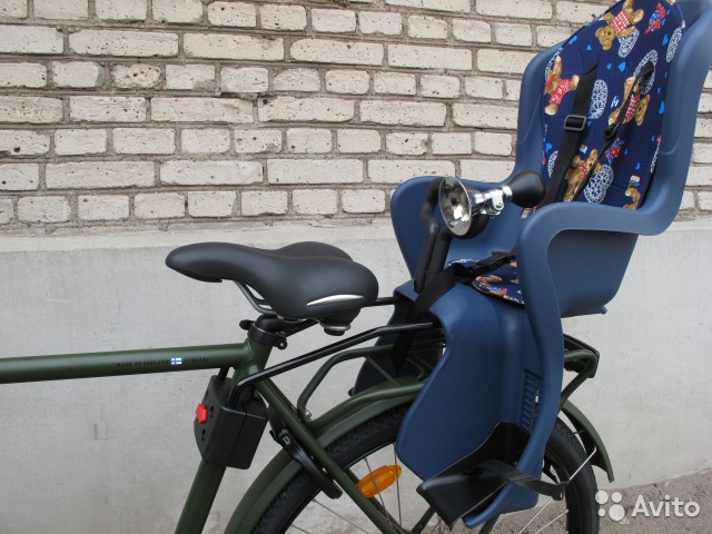Детское кресло для велосипеда на багажник