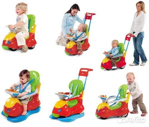 Машинка-каталка Chicco Ride On 2 в 1 73470