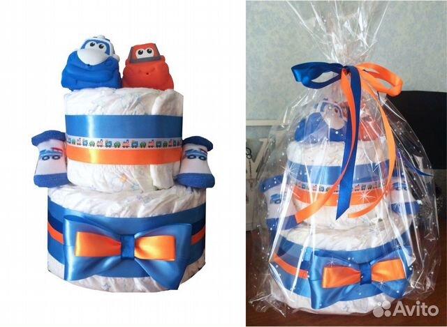 Торты из памперсов с игрушками фото цена