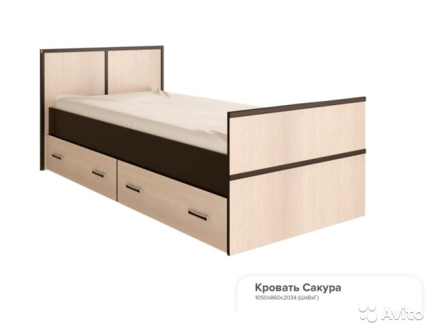 односпальная кровать с ящиками держава мебели купить в северной