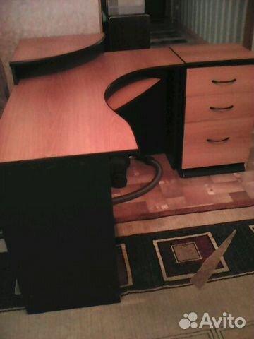 стол письменный угловой сприставной тумбой Festimaru