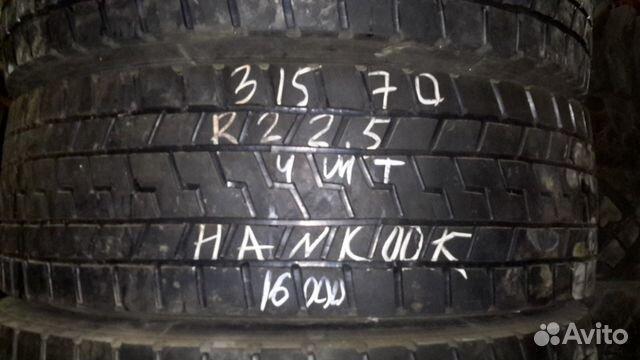 89805377242 Грузовые шины 315 на 70 r22 5 Ханкук б/у 4 штуки