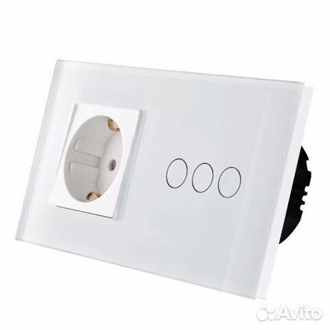 54d5f5356cbc Сенсорный выключатель с розеткой   Festima.Ru - Мониторинг объявлений