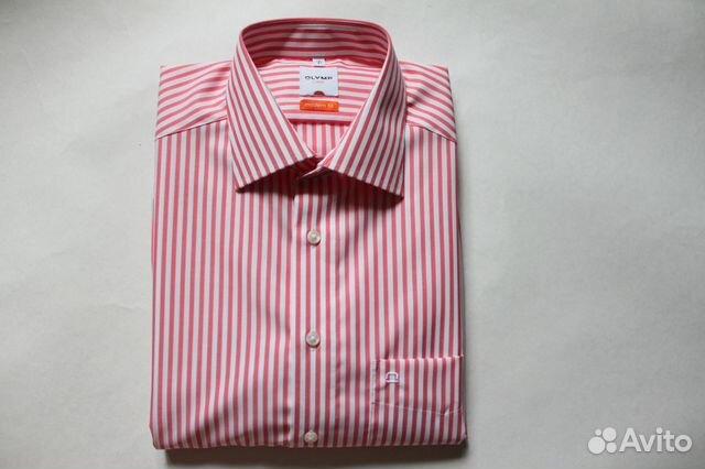 ce0cbc2ce3f686b Мужская рубашка Olymp в полоску 41 ворот купить в Санкт-Петербурге ...