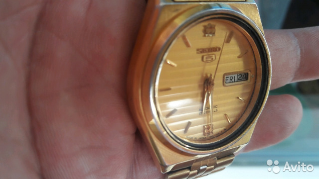 Мужские позолоченные наручные часы Seiko 5 89283211593 купить 3