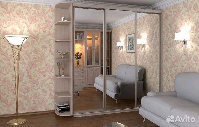 шкафы купе с зеркалом трехдверные 180 270 см купить в