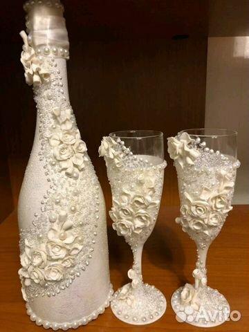 30ecc70ce7916a7 Свадебное шампанское и бокалы | Festima.Ru - Мониторинг объявлений
