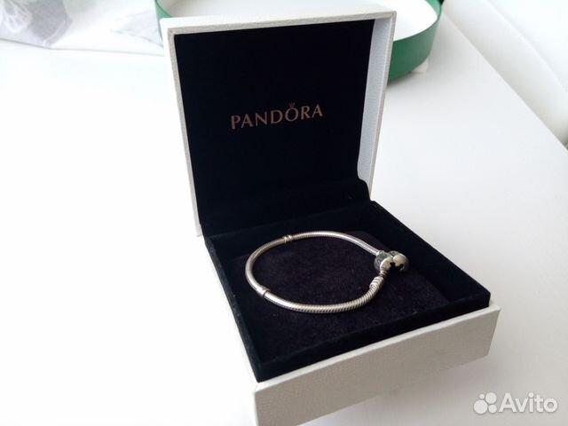 серебряный браслет пандора в оригинальной коробке Festimaru