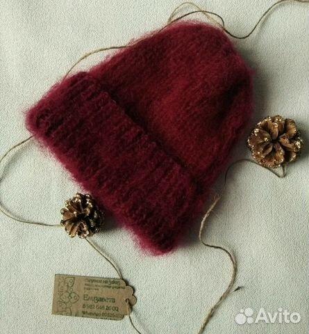 зимняя вязаная шапка из мохера Festimaru мониторинг объявлений