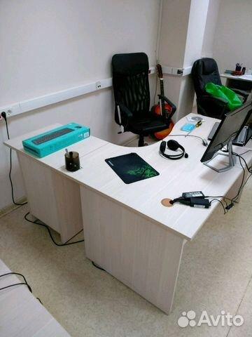 стол письменный угловой правый с тумбой Festimaru мониторинг