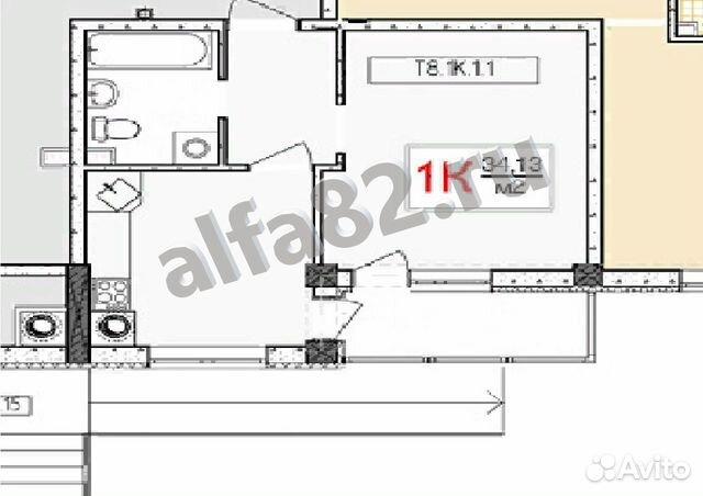 Продается однокомнатная квартира за 2 650 000 рублей. Республика Крым,Симферополь,Батурина улица,103.
