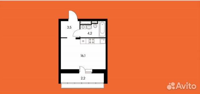 Продается квартира-cтудия за 5 300 000 рублей. Сосновая улица, 1к2.