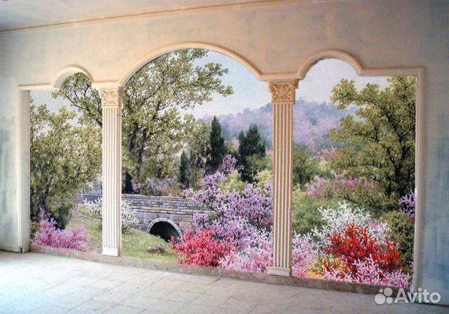 Картинки по запросу роспись стен и потолков