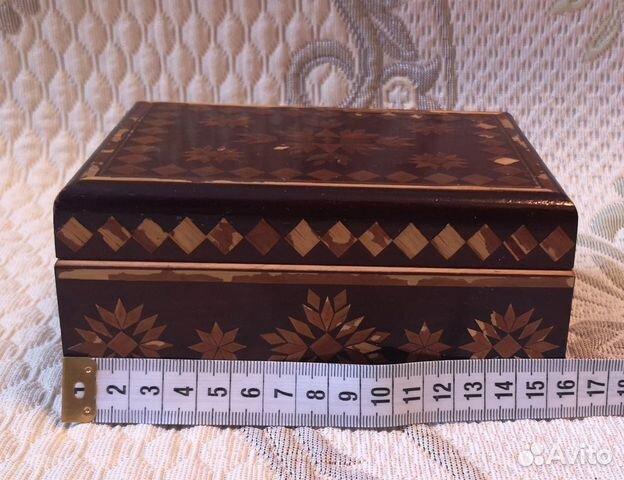 Деревянная шкатулка,СССР (16 см) 89137668817 купить 2
