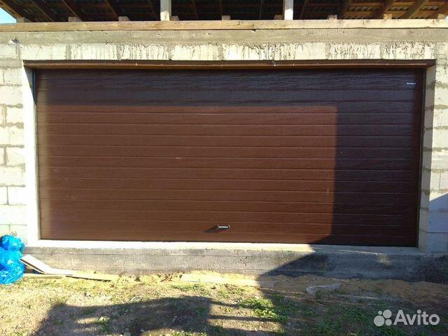Ворота секционные на гараж 89087774297 купить 4