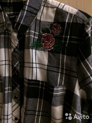Клетчатая рубашка Cropp 89523916808 купить 3