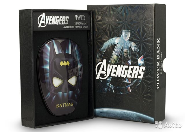 84942303606 Power Bank Avengers 12000 mAh (Бэтмен)