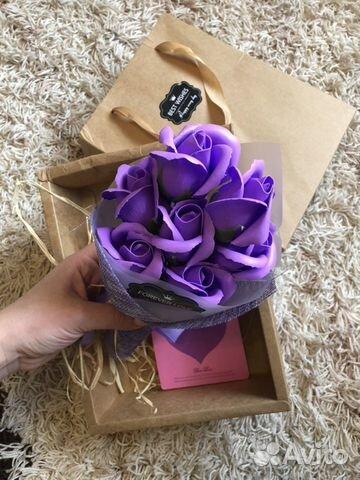 Букет из роз (мыльные розы) подарочный набор из ро  89157798590 купить 2