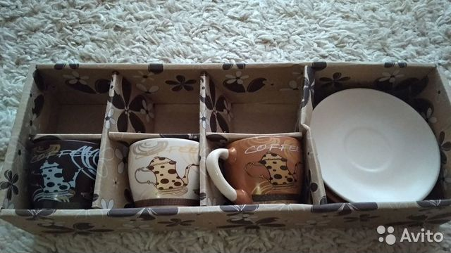 Кофейный сервиз керамика (набор столовой посуды)