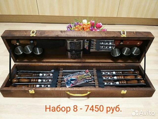 Подарочный набор шампуров для шашлыка в кейсе купить 9