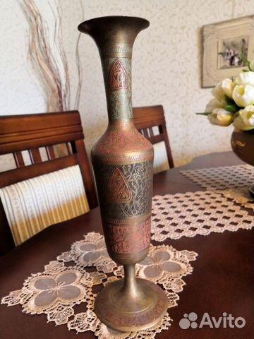 Бронзовая индийская ваза, СССР, 30 см купить 1