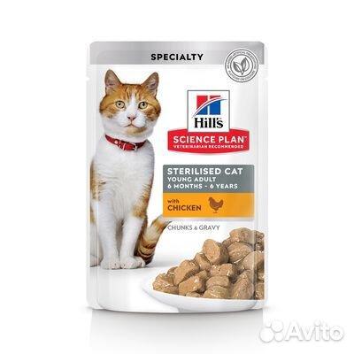 Hills паучи/сухой для стерилизованных кошек 89276714008 купить 1