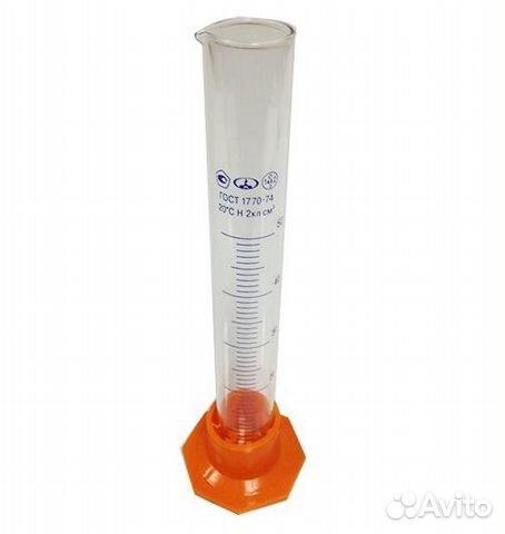 Мерный цилиндр, стеклянный, 50 мл  89229550470 купить 1