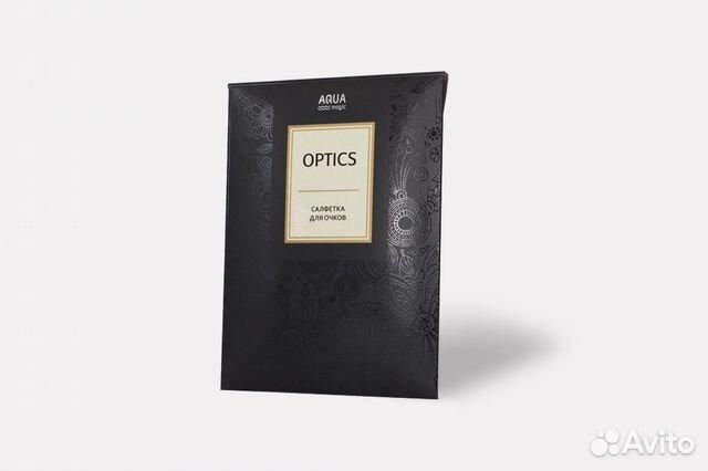 Салфетка для очков aquamagic optics слоновая кость  89128308130 купить 3