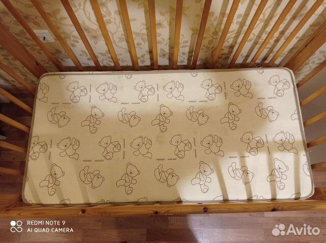 Кроватка детская с матрасом + игровой коврик  89114908936 купить 2