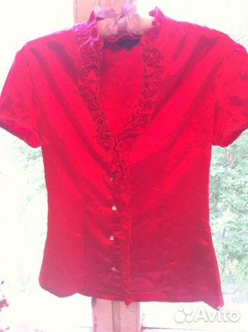 fc29268450a Шикарная красная атласная блузка купить в Москве на Avito ...