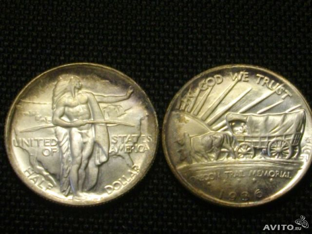 Half Dollar -Oregon Trail Memorial 1936г. (copy)— фотография №1