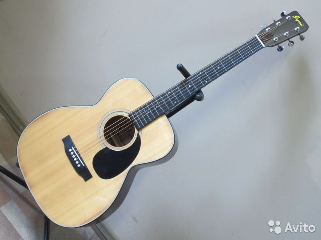 89025069832  Акустическая гитара Jagard JF-150 (1970х Japan)
