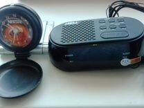 Магнитола с кас.и радио.часы с радио.кассеты двд