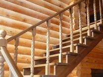 Деревянные лестницы Бани,бытовки,установка
