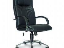 Кресло компьютерное, хром эко кожа