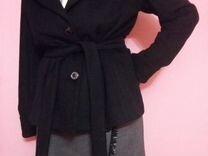 Пальто из ткани кашемир, модель