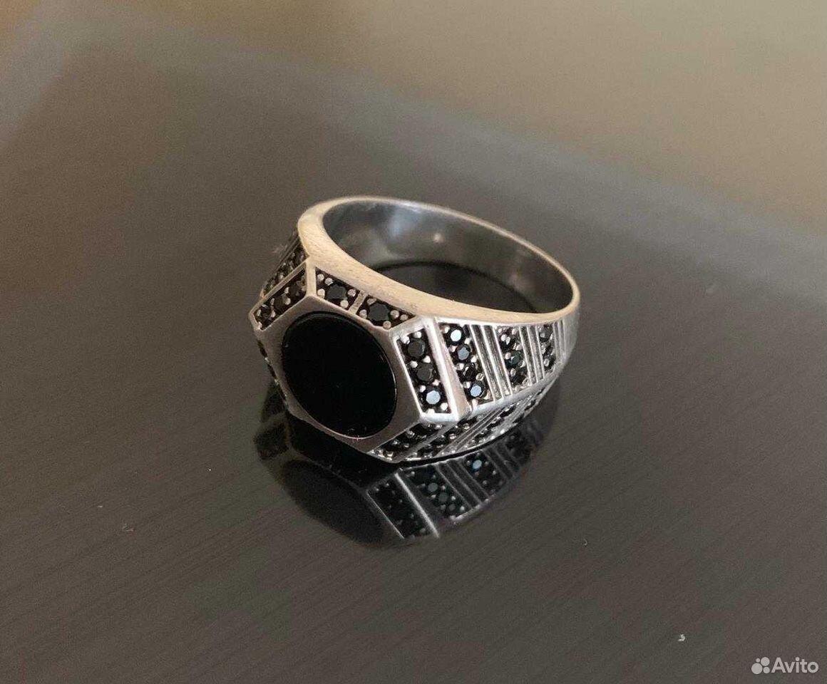 Перстень из чистейшего серебра в Ониксе