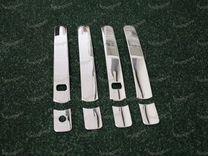 Хром накладки на ручки под смарт X-Trail 31, мет