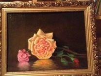 Картина (холст,масло 30х40) Роза