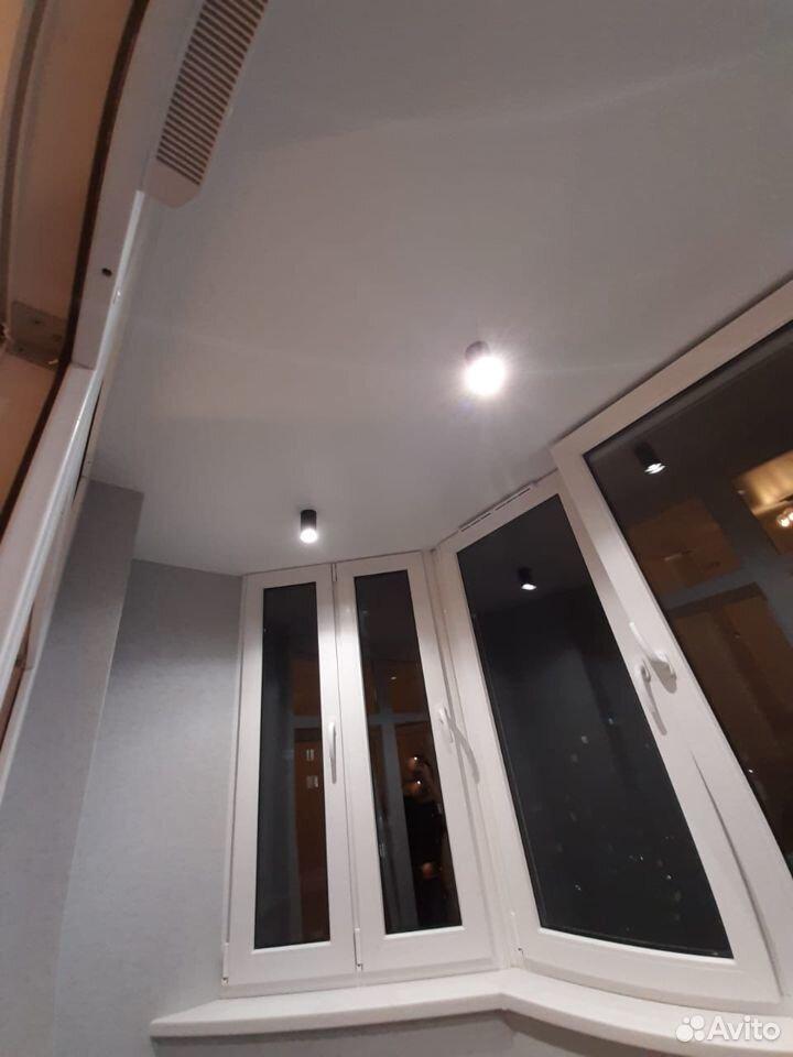 Натяжные потолки лоджия
