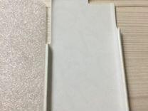 Накладка силиконовая и белая кожа на айфон 6