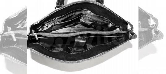 5881e3e9e082 Мужская кожаная сумка -Prada- black новый портфель купить в Москве на Avito  — Объявления на сайте Авито
